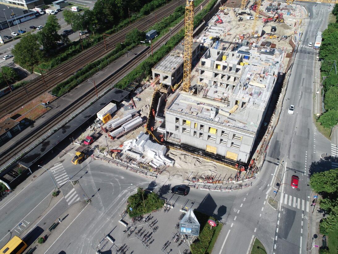 CG Jensen, Rødovre Port, totalentreprise, råhus, byggeri, elementmontage, stål