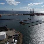 CG Jensen, Frderikshavn, Havn, udvidelse, ramning, vandbygning, anlæg vest, havnebyggeri, byggeplads