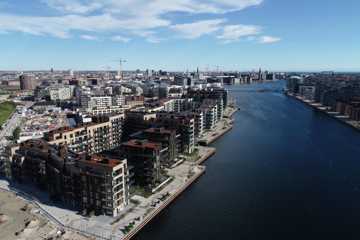 Billede af Enghave Brygge fra vandsiden